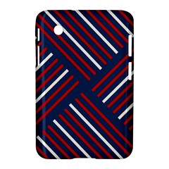 Geometric Background Stripes Red White Samsung Galaxy Tab 2 (7 ) P3100 Hardshell Case