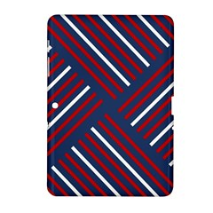 Geometric Background Stripes Red White Samsung Galaxy Tab 2 (10.1 ) P5100 Hardshell Case