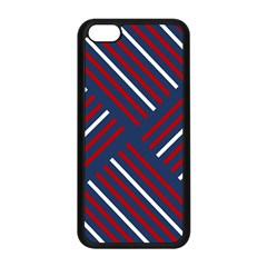 Geometric Background Stripes Red White Apple iPhone 5C Seamless Case (Black)