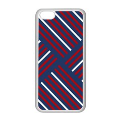 Geometric Background Stripes Red White Apple iPhone 5C Seamless Case (White)