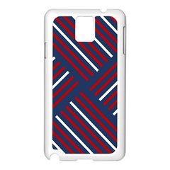 Geometric Background Stripes Red White Samsung Galaxy Note 3 N9005 Case (White)
