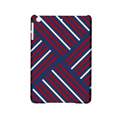 Geometric Background Stripes Red White iPad Mini 2 Hardshell Cases