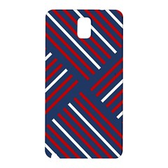 Geometric Background Stripes Red White Samsung Galaxy Note 3 N9005 Hardshell Back Case