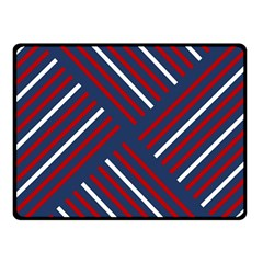 Geometric Background Stripes Red White Double Sided Fleece Blanket (Small)