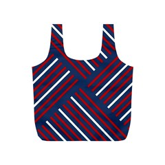 Geometric Background Stripes Red White Full Print Recycle Bags (S)