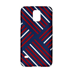 Geometric Background Stripes Red White Samsung Galaxy S5 Hardshell Case