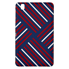 Geometric Background Stripes Red White Samsung Galaxy Tab Pro 8.4 Hardshell Case