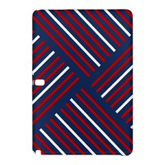 Geometric Background Stripes Red White Samsung Galaxy Tab Pro 12.2 Hardshell Case