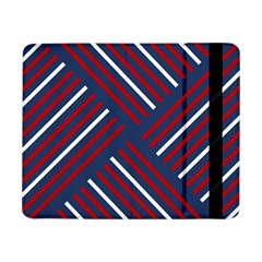 Geometric Background Stripes Red White Samsung Galaxy Tab Pro 8.4  Flip Case