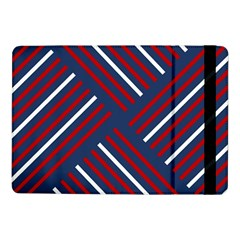 Geometric Background Stripes Red White Samsung Galaxy Tab Pro 10.1  Flip Case