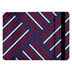 Geometric Background Stripes Red White Samsung Galaxy Tab Pro 12.2  Flip Case