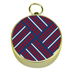 Geometric Background Stripes Red White Gold Compasses