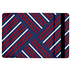 Geometric Background Stripes Red White iPad Air Flip