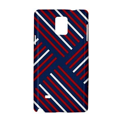 Geometric Background Stripes Red White Samsung Galaxy Note 4 Hardshell Case