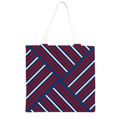 Geometric Background Stripes Red White Grocery Light Tote Bag