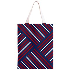 Geometric Background Stripes Red White Classic Light Tote Bag
