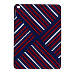 Geometric Background Stripes Red White iPad Air 2 Hardshell Cases