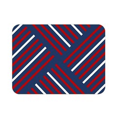 Geometric Background Stripes Red White Double Sided Flano Blanket (Mini)
