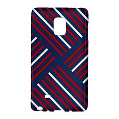 Geometric Background Stripes Red White Galaxy Note Edge
