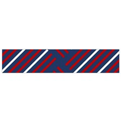 Geometric Background Stripes Red White Flano Scarf (Small)