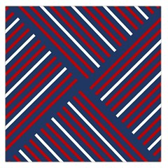 Geometric Background Stripes Red White Large Satin Scarf (Square)