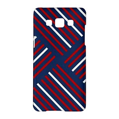 Geometric Background Stripes Red White Samsung Galaxy A5 Hardshell Case