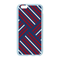 Geometric Background Stripes Red White Apple Seamless iPhone 6/6S Case (Color)