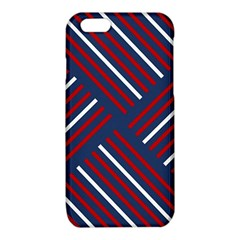 Geometric Background Stripes Red White iPhone 6/6S TPU Case