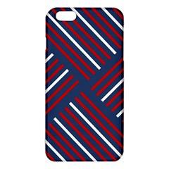 Geometric Background Stripes Red White iPhone 6 Plus/6S Plus TPU Case