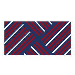 Geometric Background Stripes Red White Satin Wrap