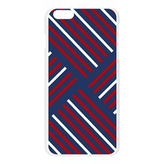 Geometric Background Stripes Red White Apple Seamless iPhone 6 Plus/6S Plus Case (Transparent)