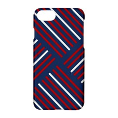 Geometric Background Stripes Red White Apple iPhone 7 Hardshell Case
