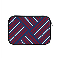Geometric Background Stripes Red White Apple MacBook Pro 15  Zipper Case