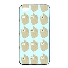 Kukang Animals Apple iPhone 4/4s Seamless Case (Black)