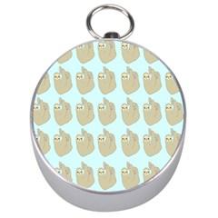 Kukang Animals Silver Compasses