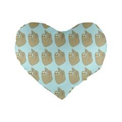 Kukang Animals Standard 16  Premium Flano Heart Shape Cushions