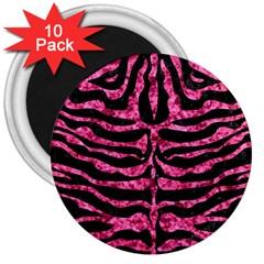 SKN2 BK-PK MARBLE 3  Magnets (10 pack)