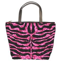Skin2 Black Marble & Pink Marble Bucket Bag
