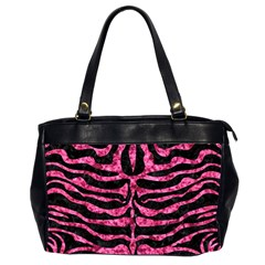 SKN2 BK-PK MARBLE Office Handbags (2 Sides)