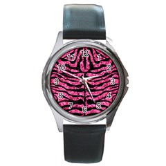 SKN2 BK-PK MARBLE (R) Round Metal Watch