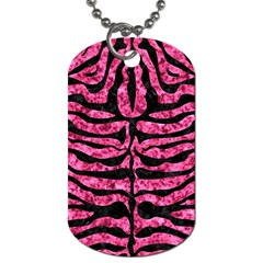 SKN2 BK-PK MARBLE (R) Dog Tag (Two Sides)