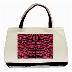 SKN2 BK-PK MARBLE (R) Basic Tote Bag