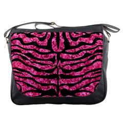 SKN2 BK-PK MARBLE (R) Messenger Bags