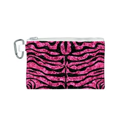 SKN2 BK-PK MARBLE (R) Canvas Cosmetic Bag (S)