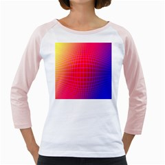 Grid Diamonds Figure Abstract Girly Raglans