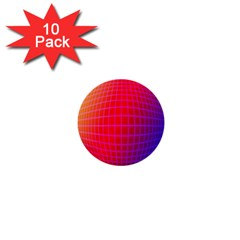 Grid Diamonds Figure Abstract 1  Mini Buttons (10 pack)