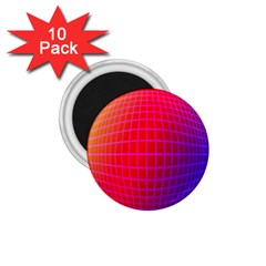 Grid Diamonds Figure Abstract 1.75  Magnets (10 pack)