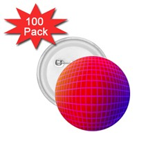 Grid Diamonds Figure Abstract 1.75  Buttons (100 pack)