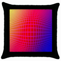 Grid Diamonds Figure Abstract Throw Pillow Case (Black)