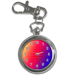 Grid Diamonds Figure Abstract Key Chain Watches